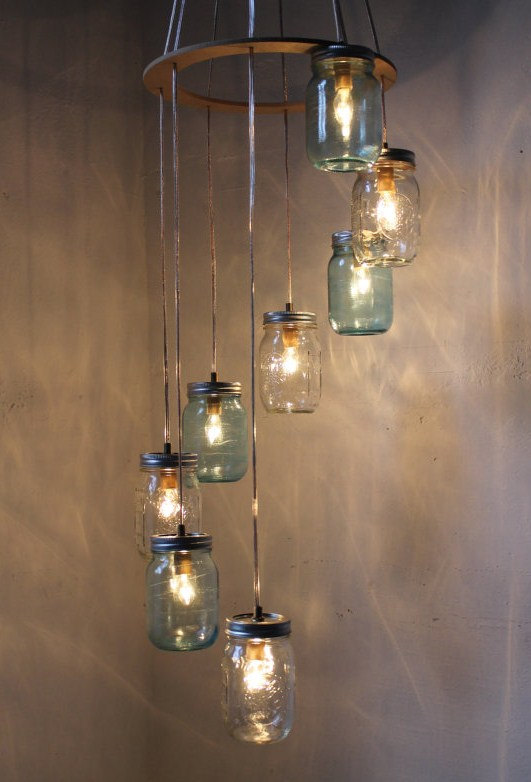 glass jar lighting wine bottle light fixture 2 an ode to mason jars